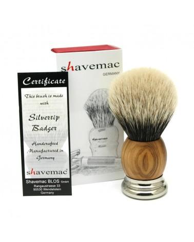 WO3 Silvertip 2-Band Badger Shaving Brush