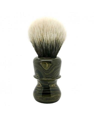 ES1 Silvertip 2-Band Badger Sand Ebonit Shaving Brush