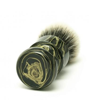 EY1 Silvertip 2-Band Badger Yellow Ebonit Shaving Brush