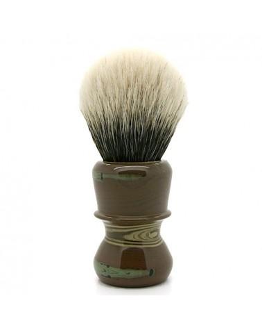 EC2 Silvertip 2-Band Badger Camouflage Ebonit Shaving Brush
