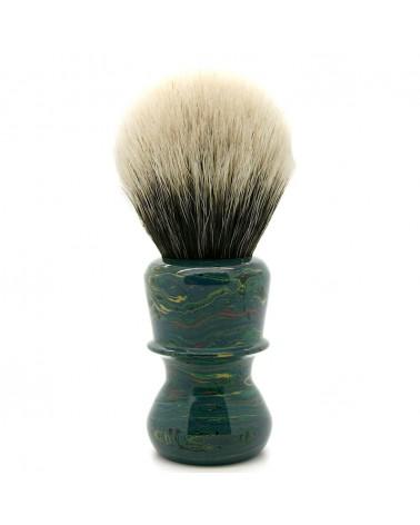 ED1 Silvertip 2-Band Badger Deep Sea Ebonit Shaving Brush